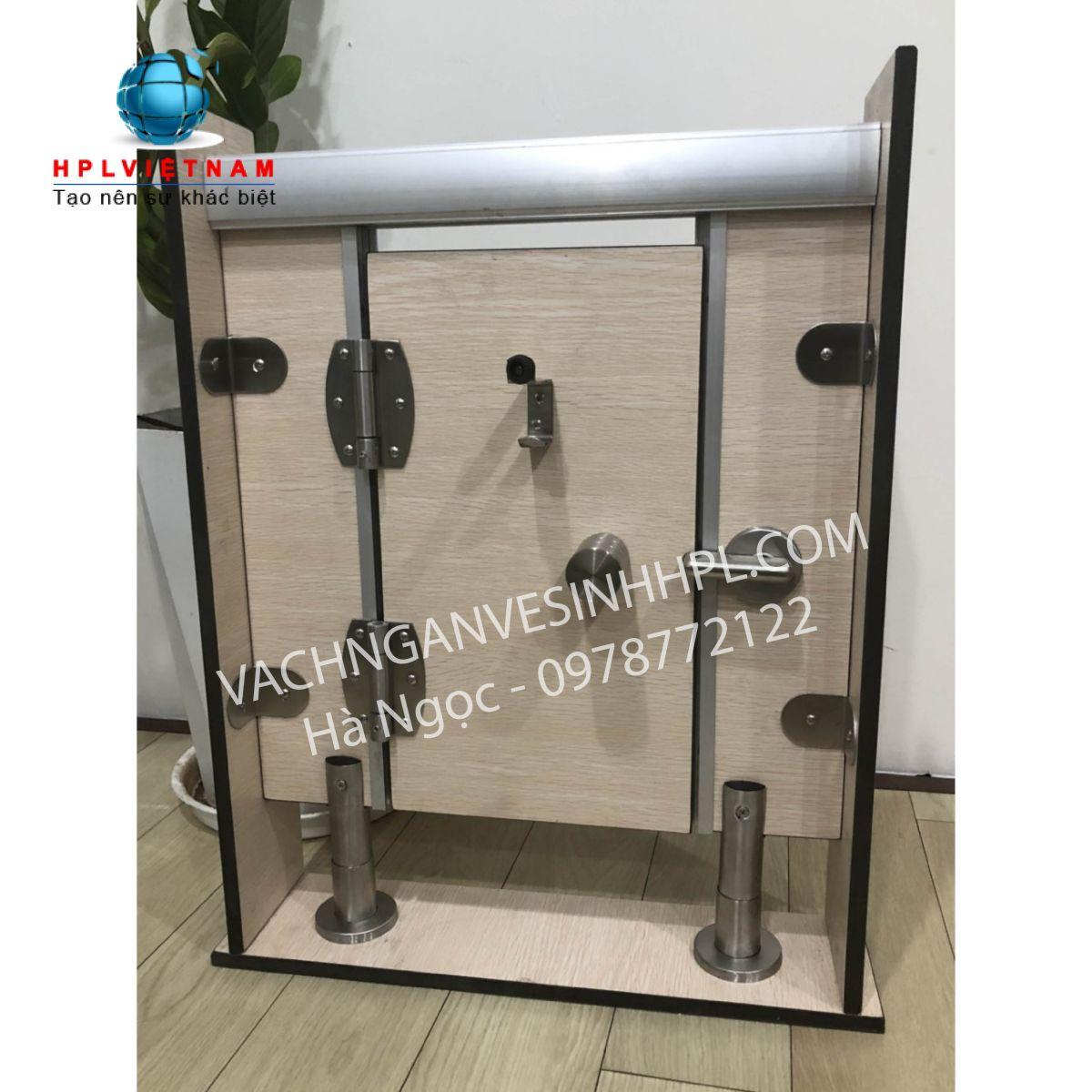 Vách ngăn vệ sinh compact màu vân gỗ | DY636 white oak