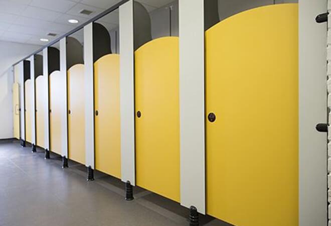 Vách ngăn Compact màu vàng mã màu 1026